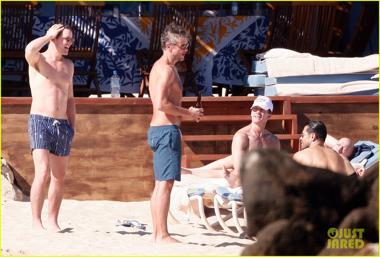 matt bomer shirtless sexy cabo vacation with simon halls 323035193