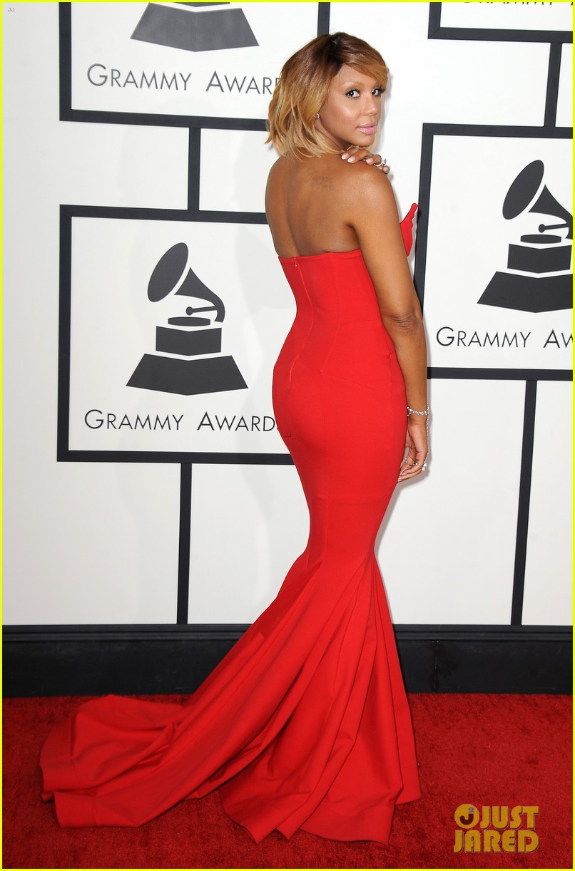 tamar braxton grammys 2014 red carpet 033040980