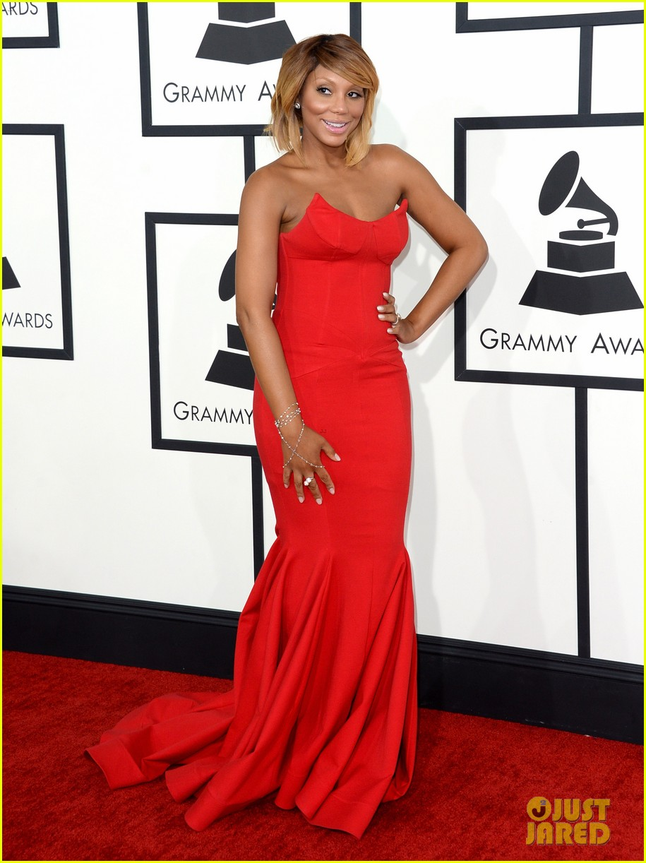 tamar braxton grammys 2014 red carpet 093040986