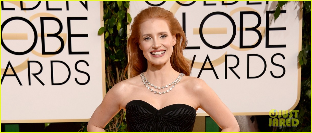 jessica chastain golden globes 2014 red carpet 053029314