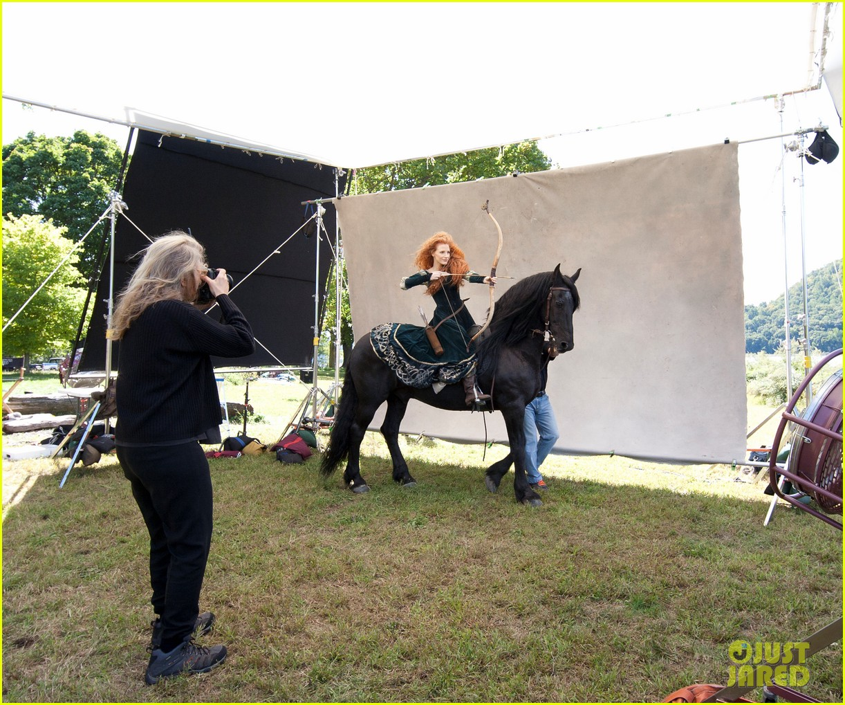 jessica chastain princess merida for disney dream portrai 07