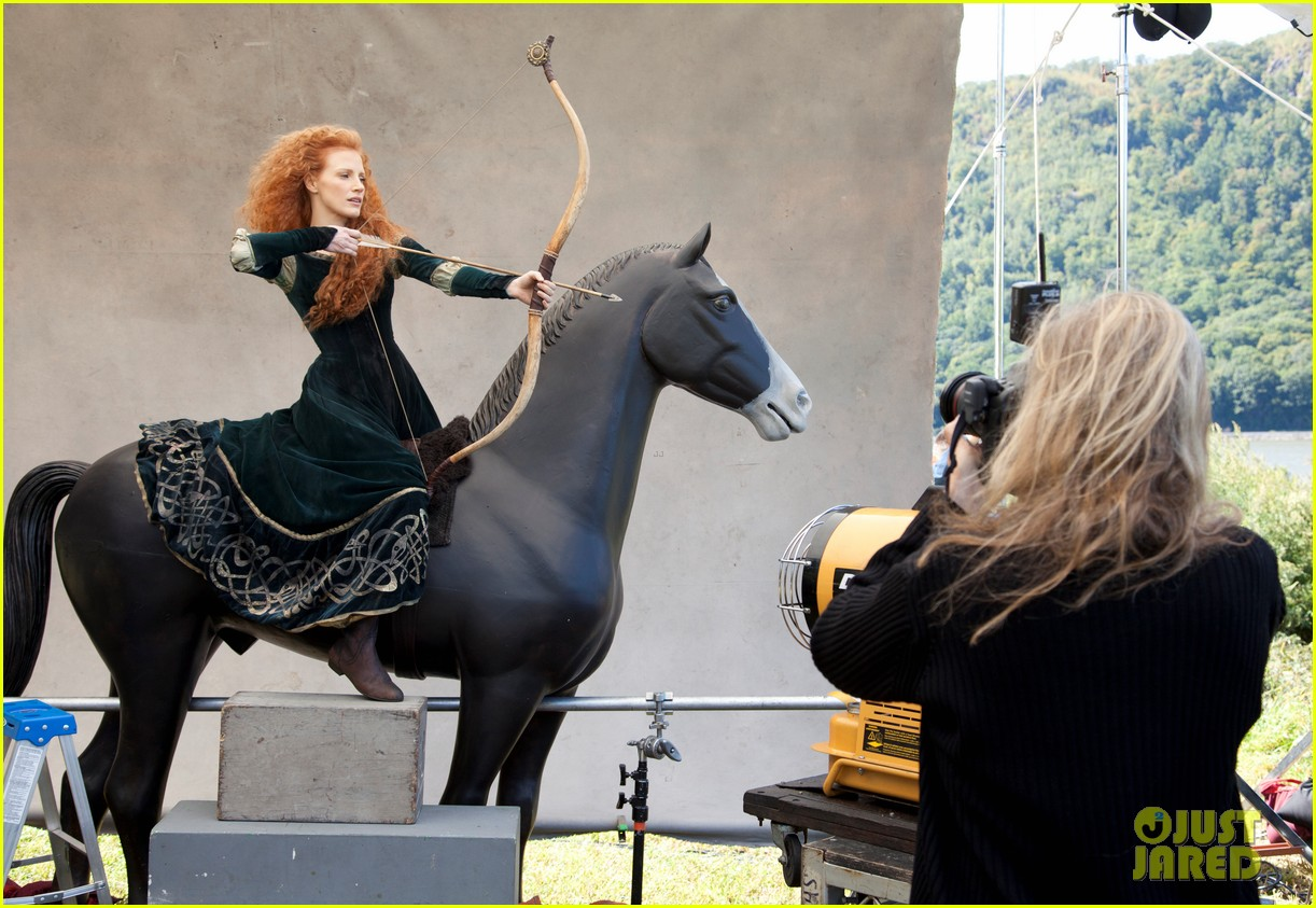 jessica chastain princess merida for disney dream portrai 093026184