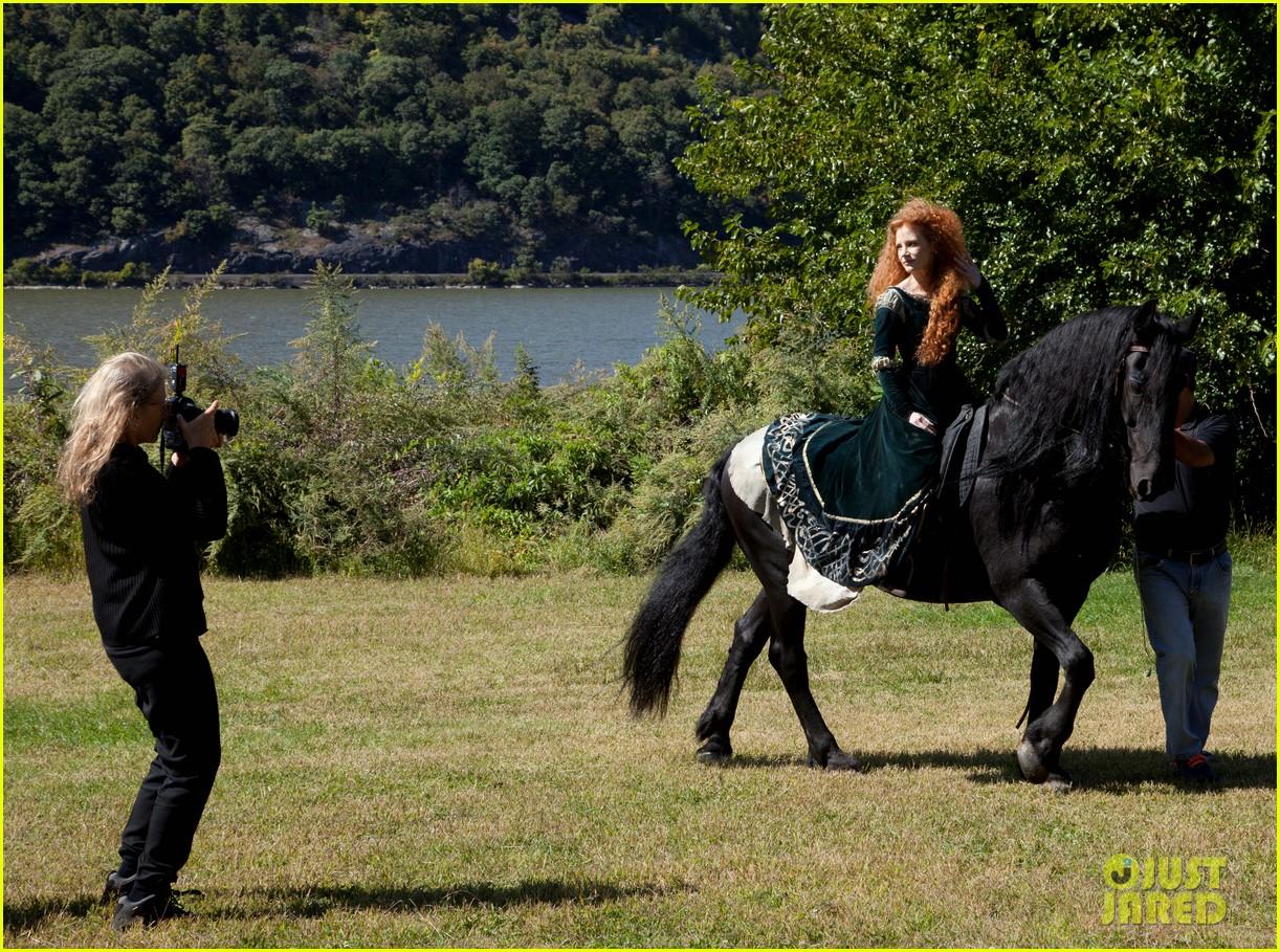 jessica chastain princess merida for disney dream portrai 12