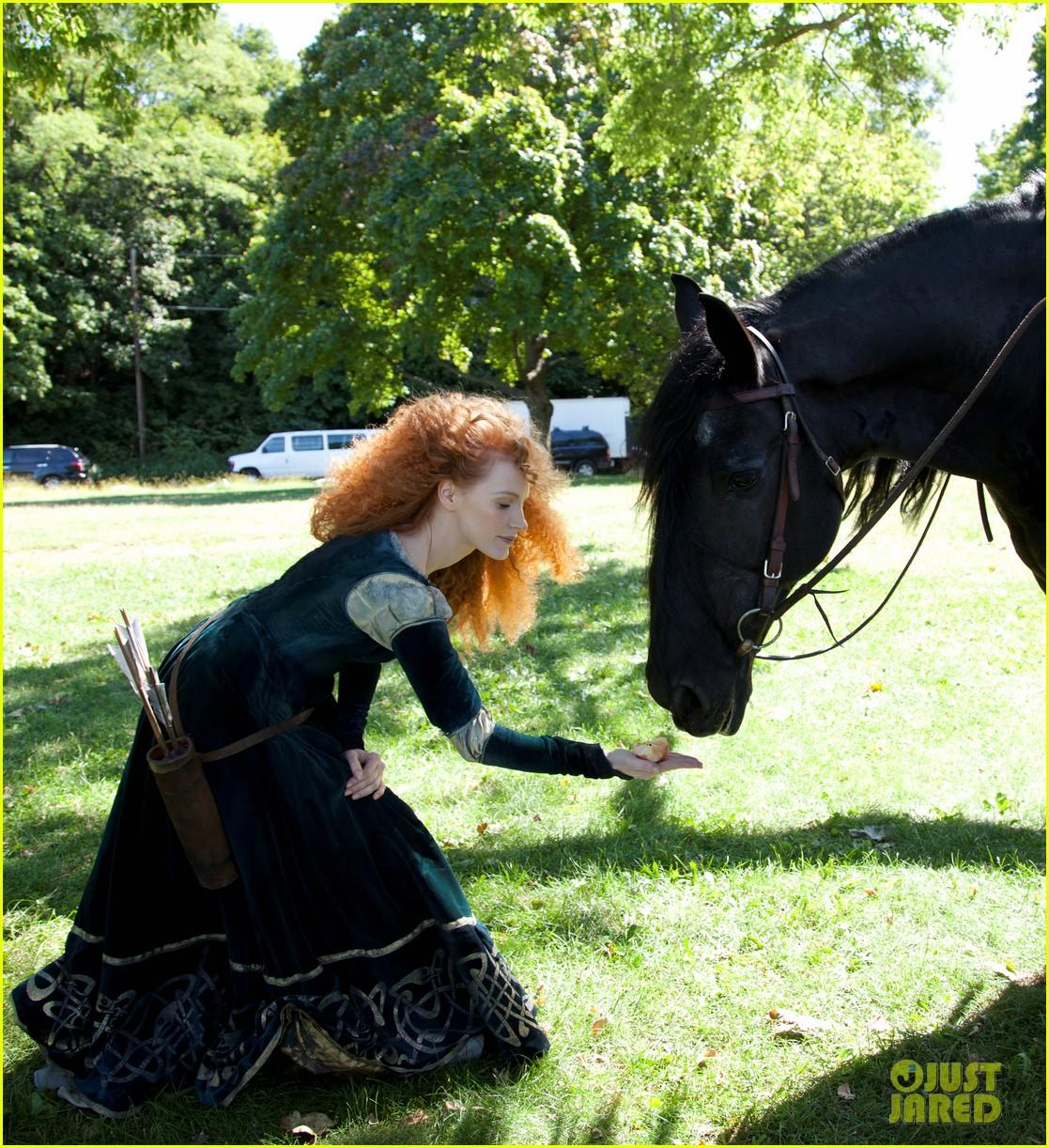 jessica chastain princess merida for disney dream portrai 153026190