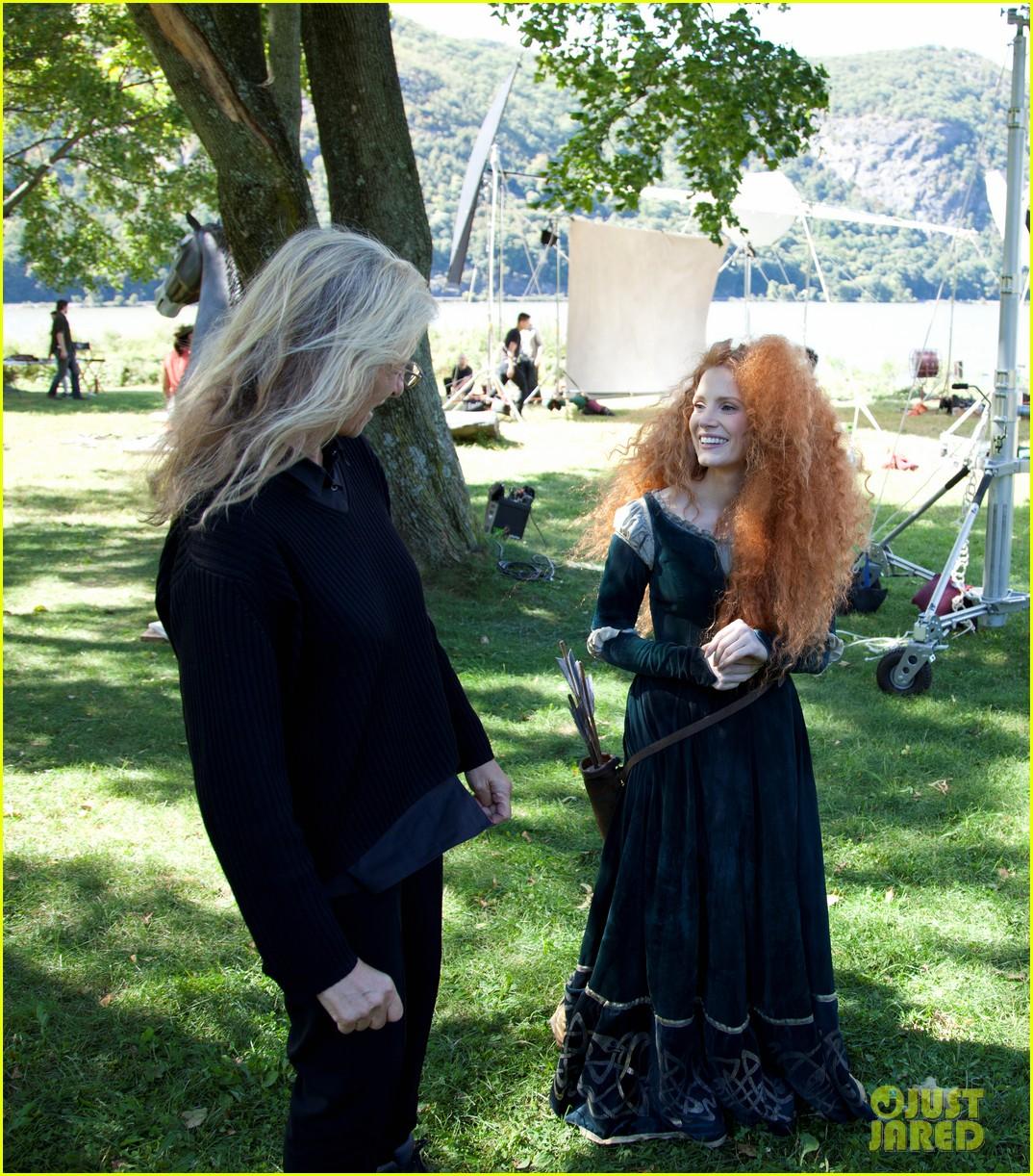 jessica chastain princess merida for disney dream portrai 163026191