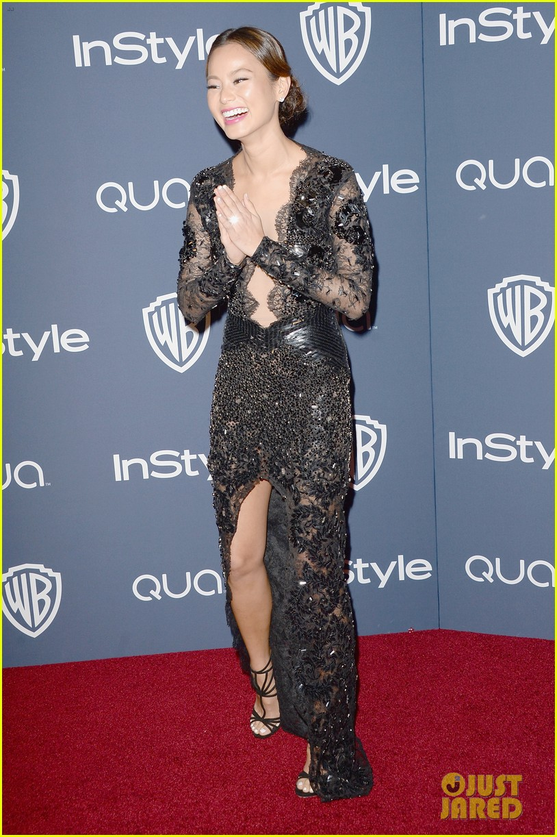 jamie chung bryan greenberg instyle golden globes party 2014 073030262