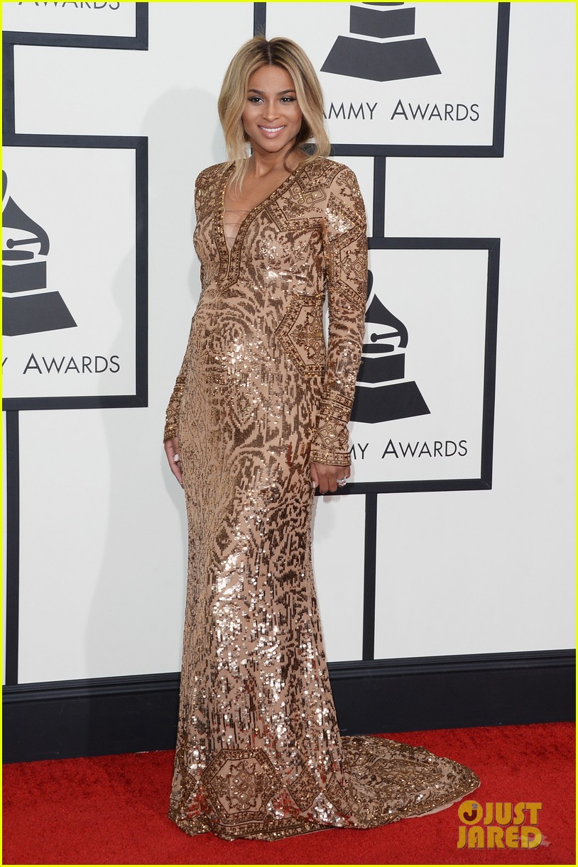 pregnant ciara grammys 2014 red carpet 013041177