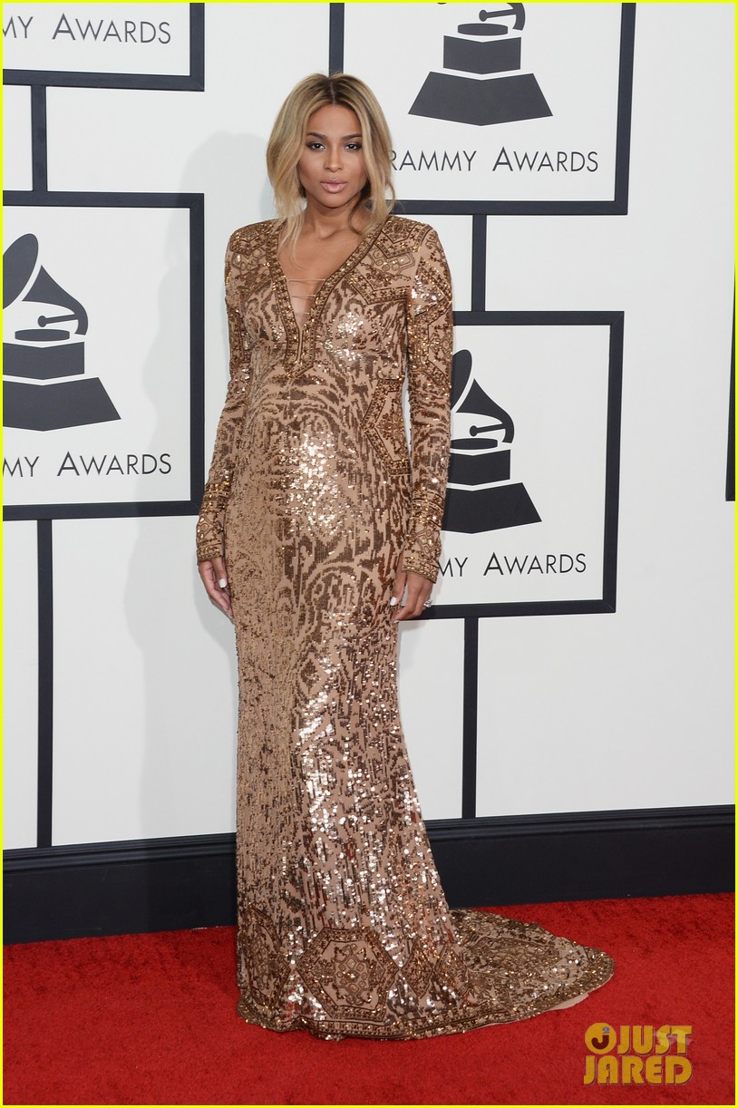 pregnant ciara grammys 2014 red carpet 053041181