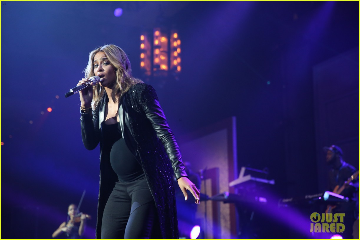 pregnant ciara performs at official grammys 2014 after party 063042009