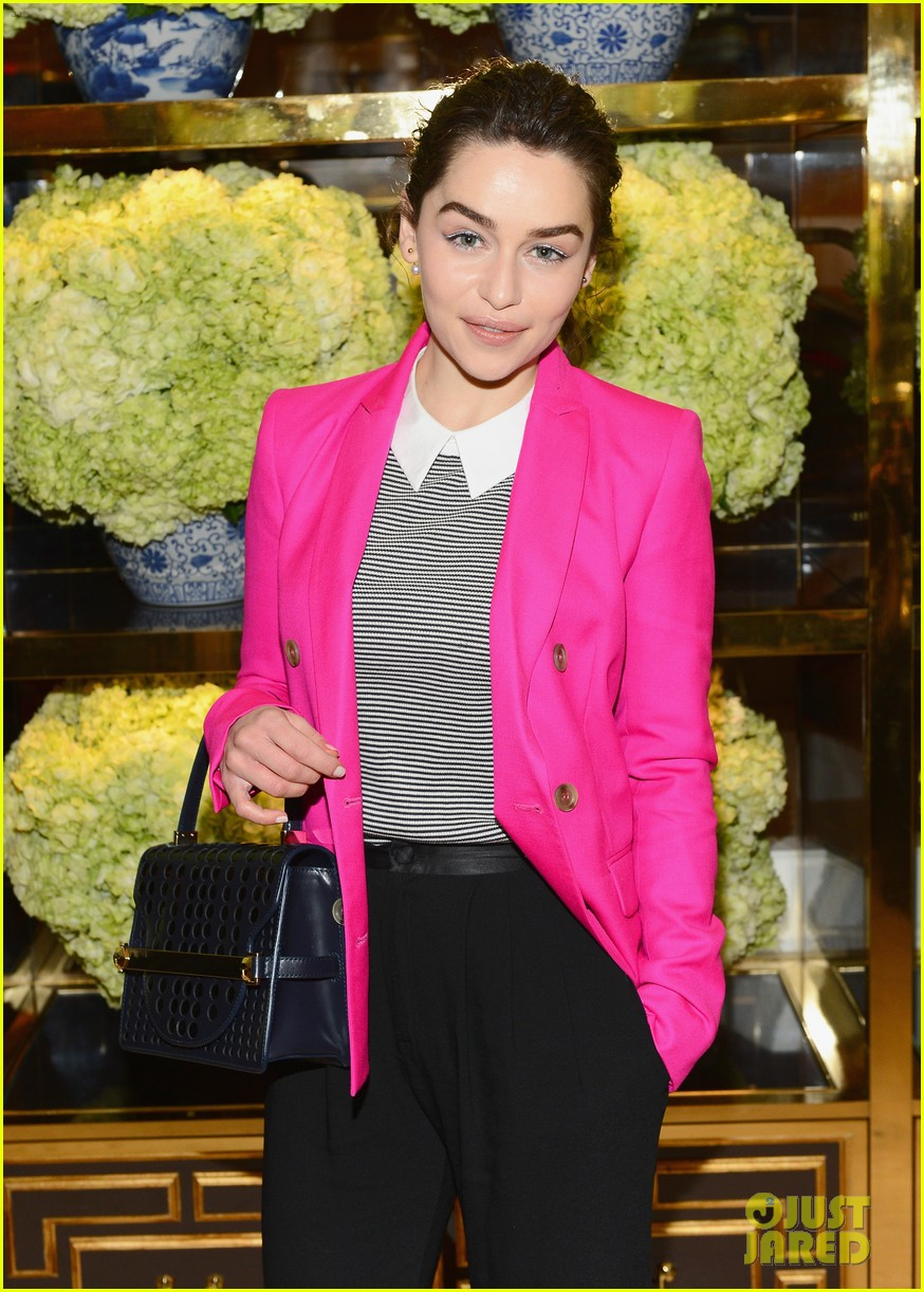 emilia clarke camila alves tory burch flagship store opening 053031792