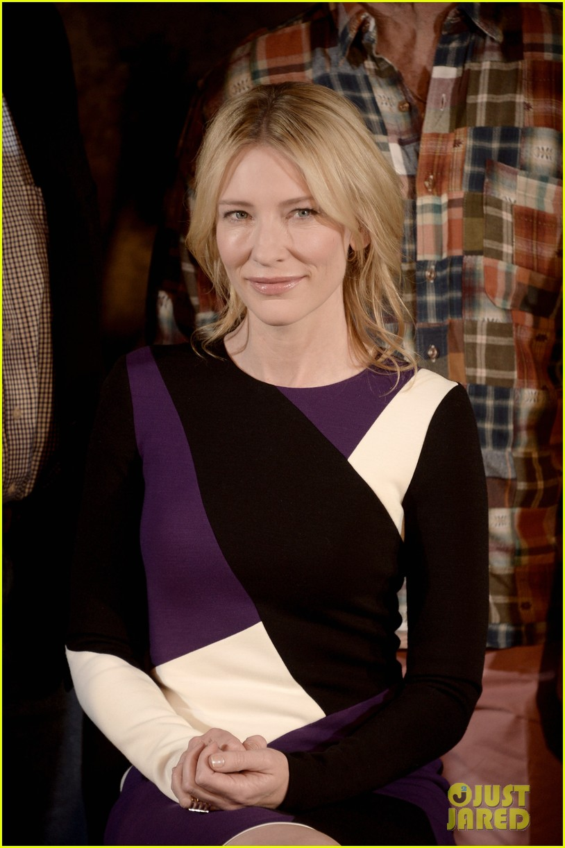 george clooney cate blanchett monuments men photo call 09