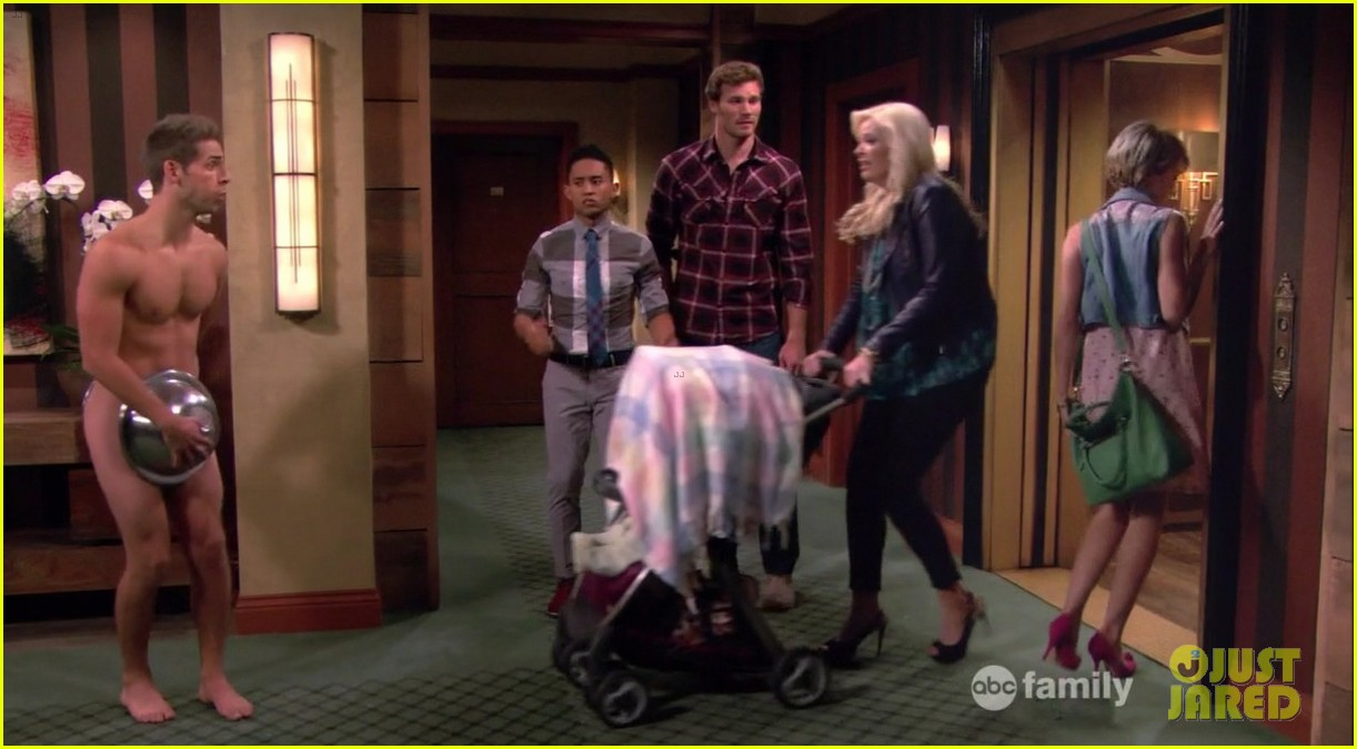 matt dallas goes shirtless on baby daddy 233044637