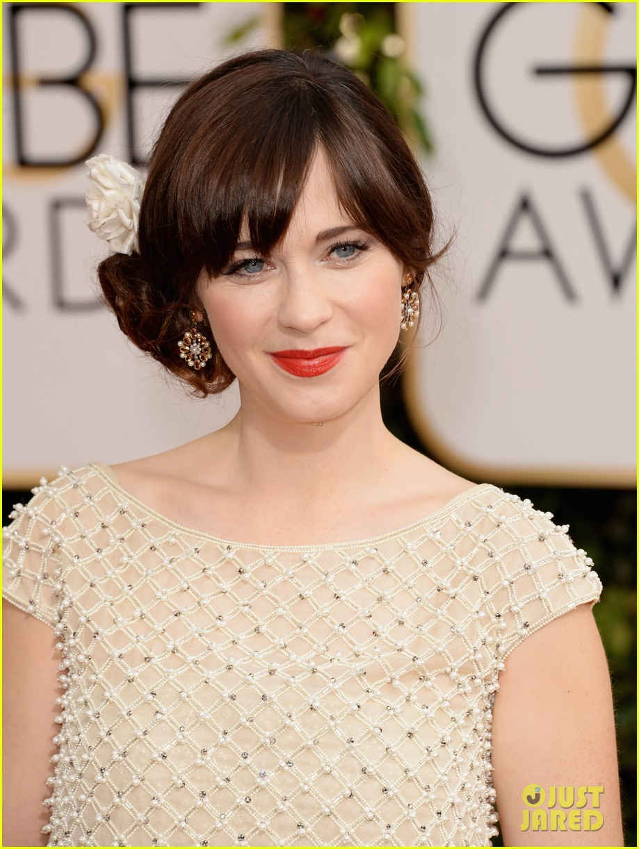zooey deschanel golden globes 2014 red carpet 063029102