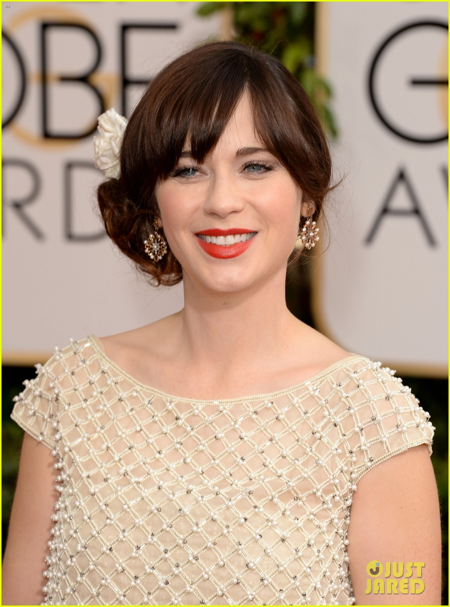 zooey deschanel golden globes 2014 red carpet 073029103