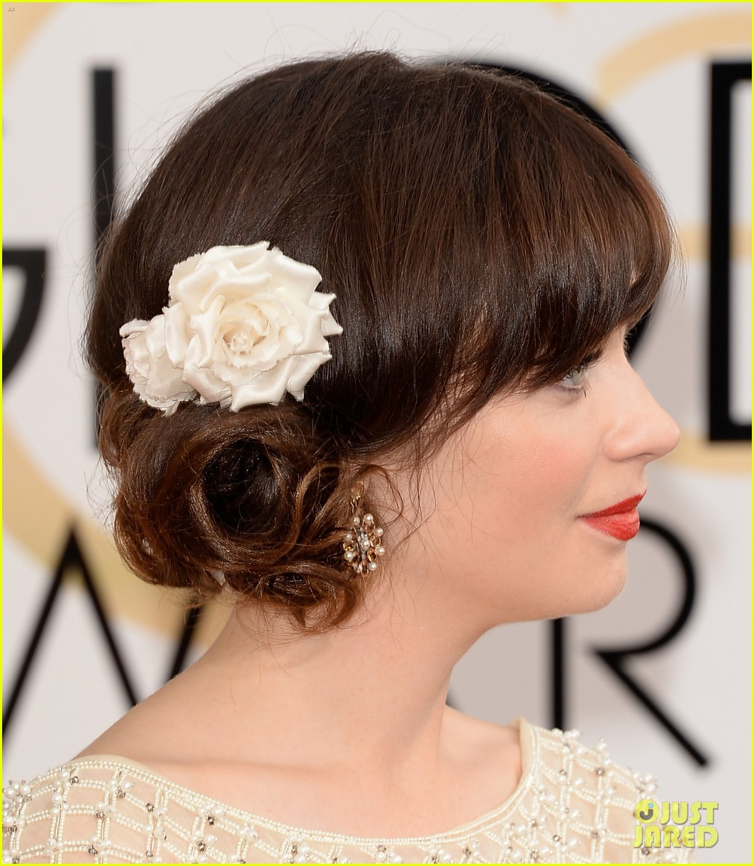 zooey deschanel golden globes 2014 red carpet 093029105