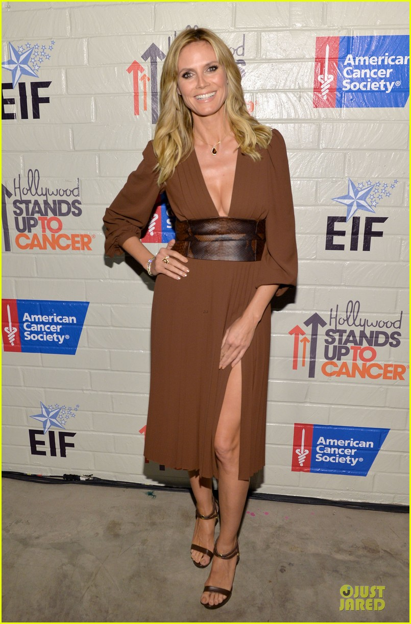 zooey deschanel heidi klum stand up to cancer 173043341