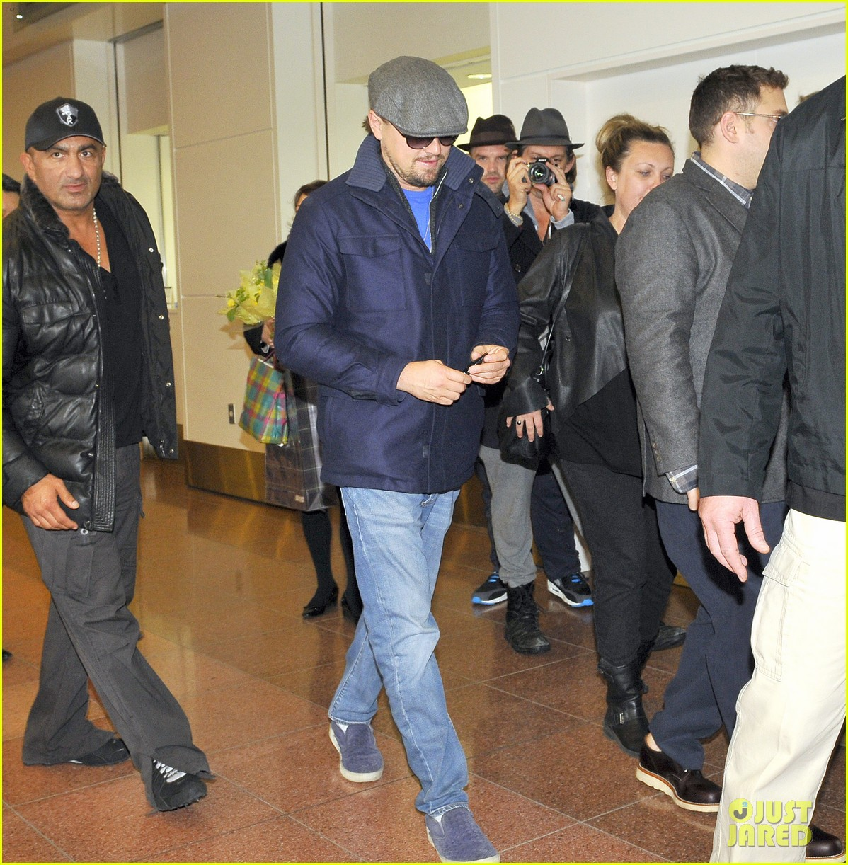 leonardo dicaprio lands in japan after snl appearance 053042028
