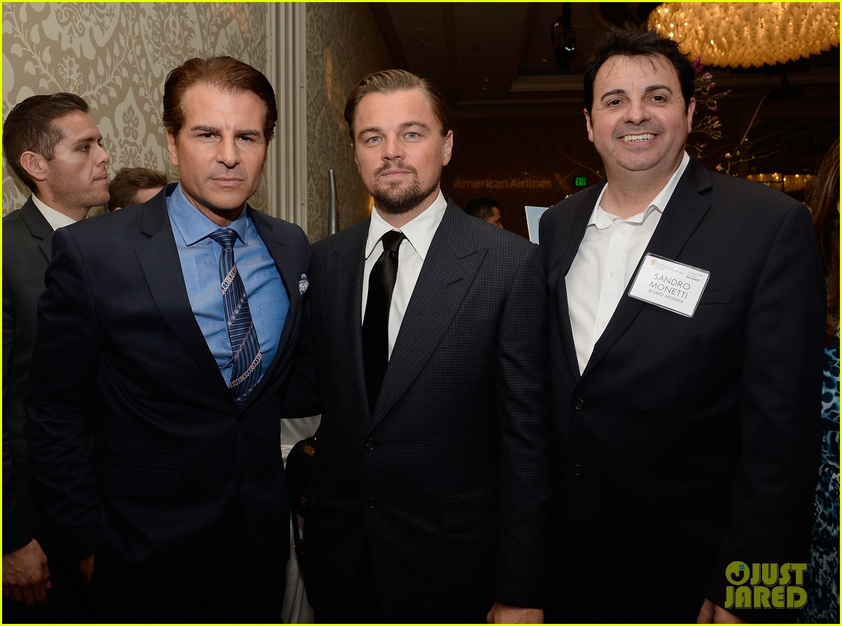 leonardo dicaprio daniel bruhl bafta tea party 2014 01
