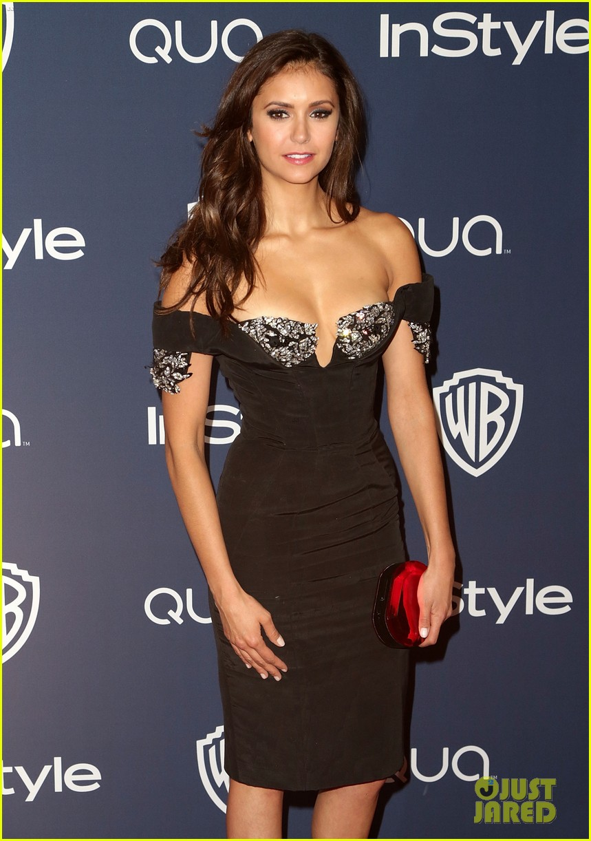 nina dobrev paul wesley instyle golden globes party 2014 153030066