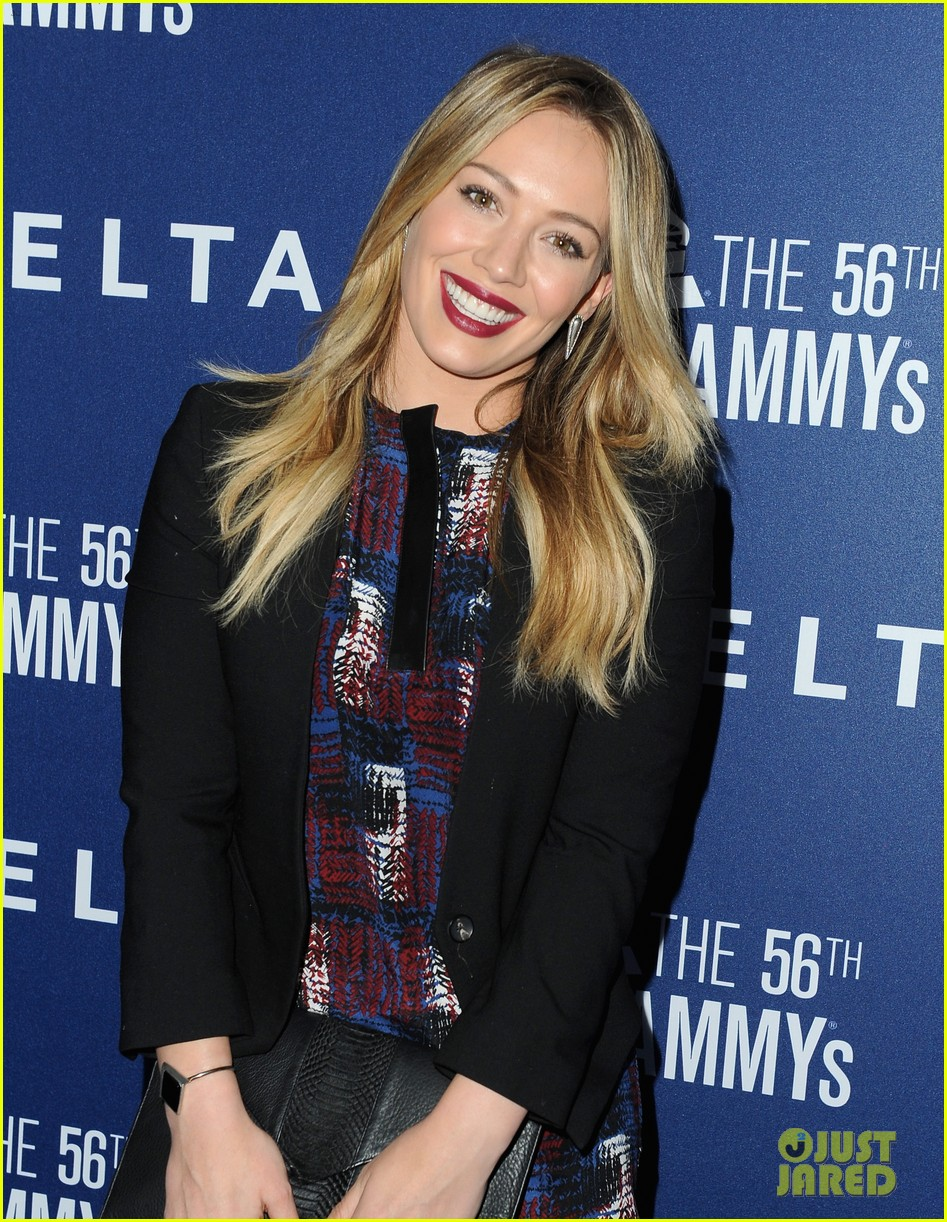 hilary duff julianne hough delta airlines pre grammy party 193039117