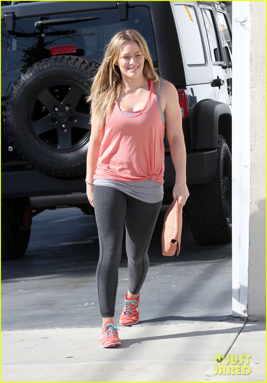 hilary duff hits the studio after filming real girls kitchen - Real Girls Kitchen
