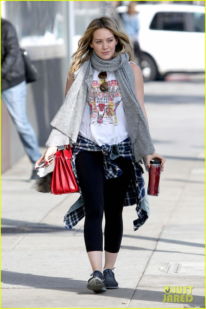 hilary duff solo cecconis lunch 023044830