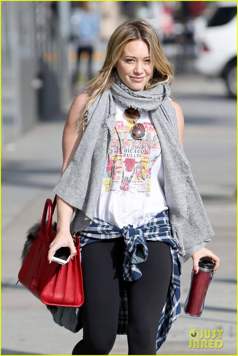 hilary duff solo cecconis lunch 033044831