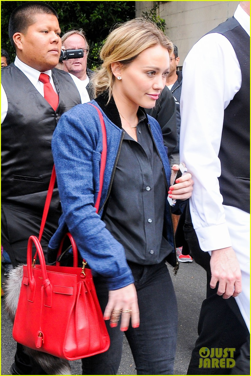 hilary duff solo cecconis lunch 04