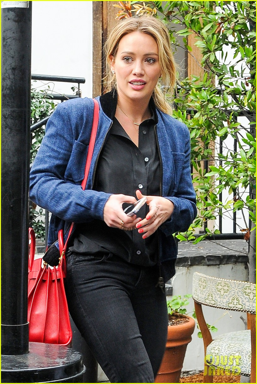 hilary duff solo cecconis lunch 083044836