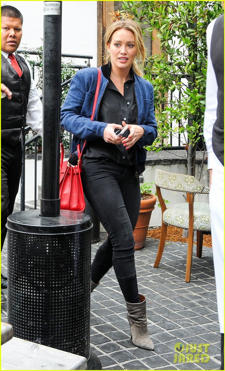 hilary duff solo cecconis lunch 113044839