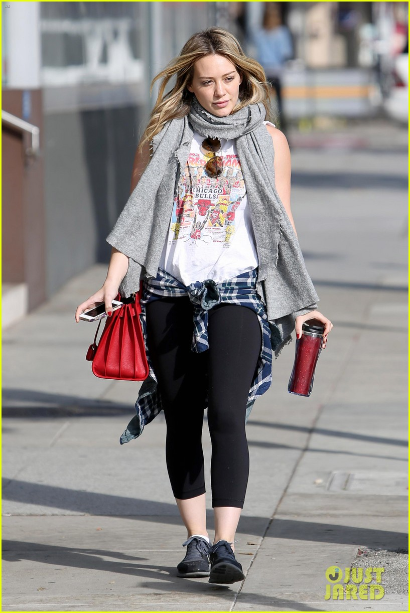 hilary duff solo cecconis lunch 13