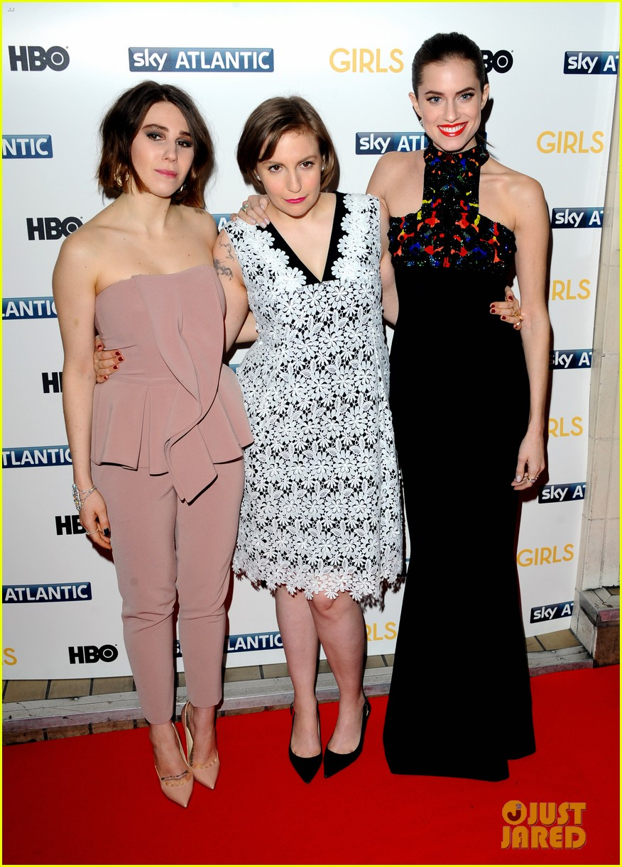 lena dunham allison williams girls season 3 uk premiere 033032088