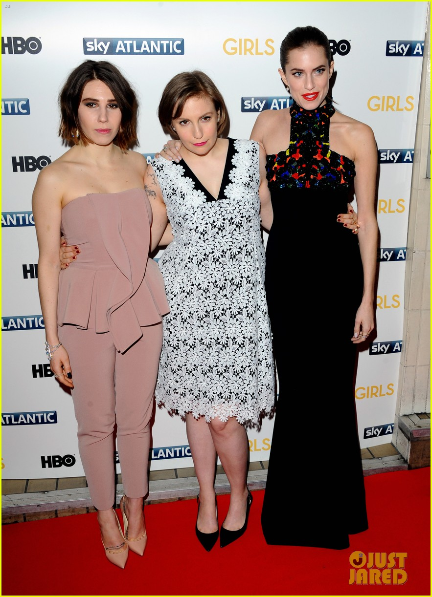 lena dunham allison williams girls season 3 uk premiere 133032098