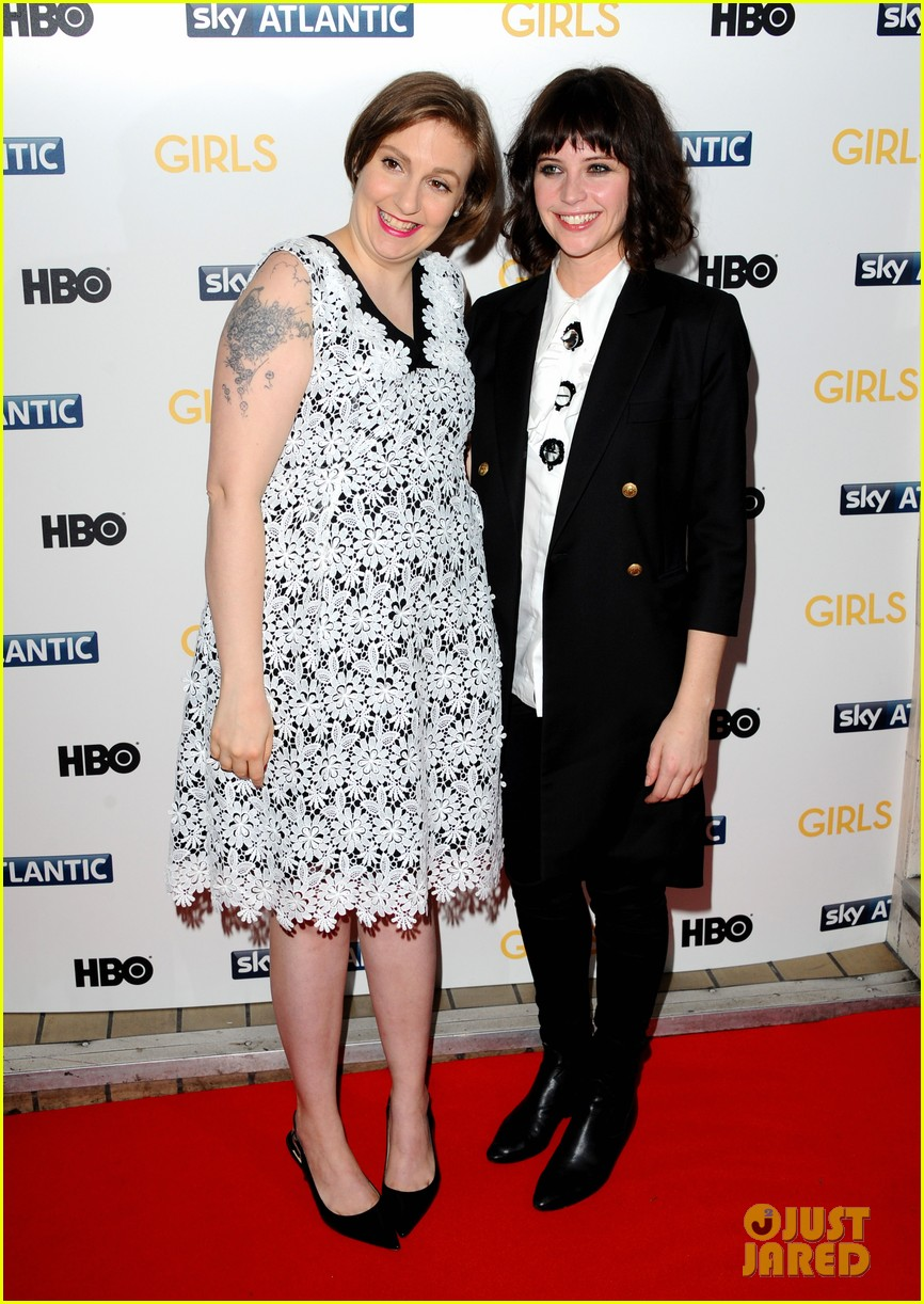 lena dunham allison williams girls season 3 uk premiere 253032110