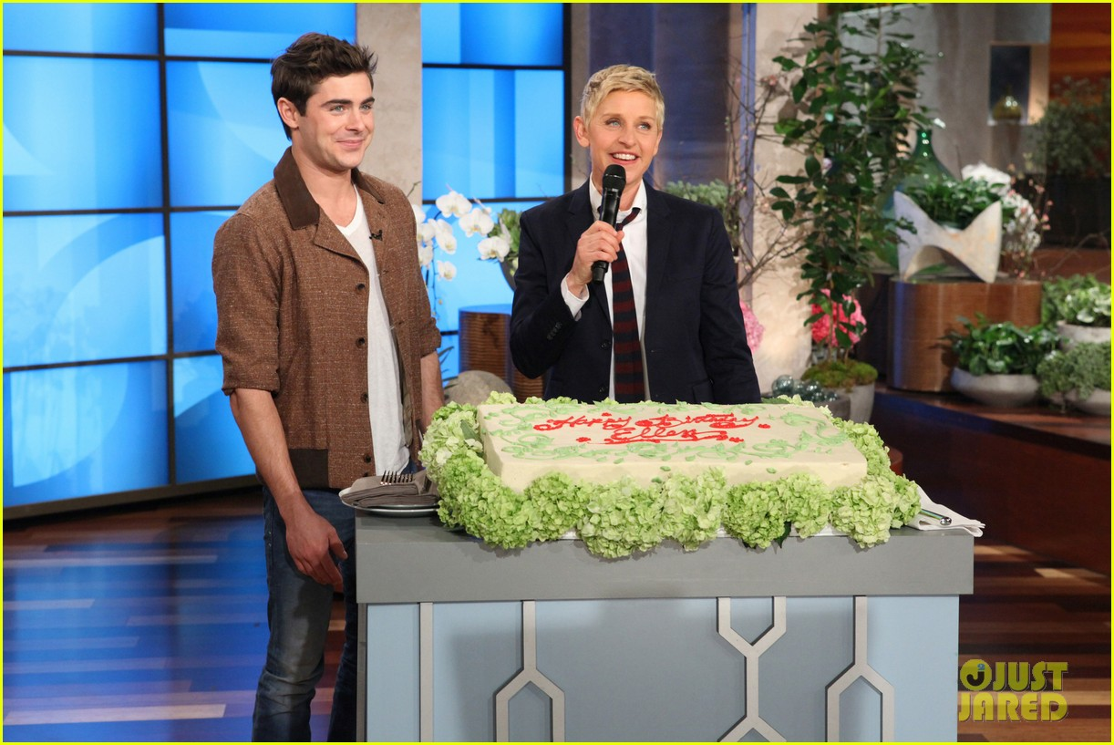 zac efron sings plays guitar for ellen degeneres birthday watch now 033044312