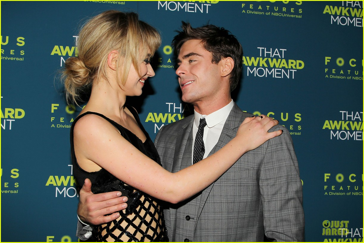 zac efron imogen poots that awkward moment premiere 153038157