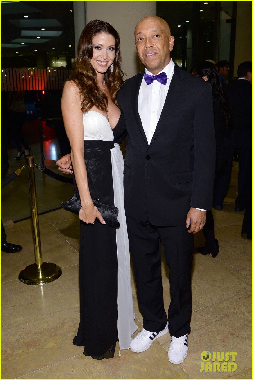 shannon elizabeth russell simmons new couple at grammys party 053040422