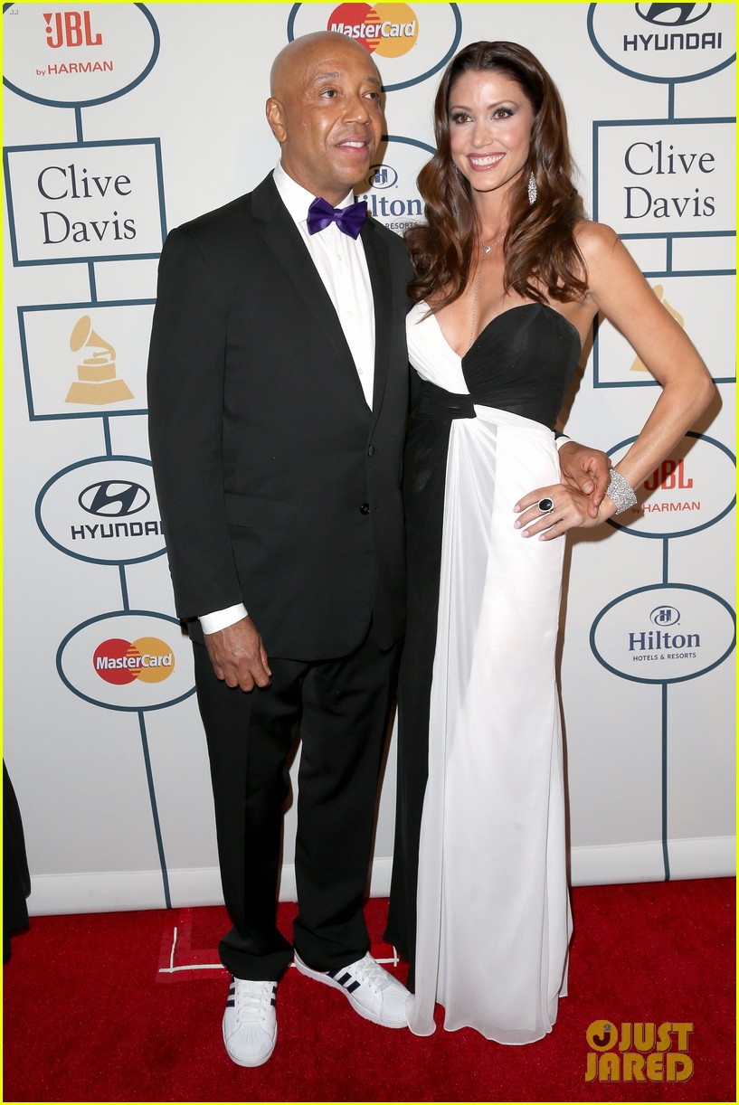 shannon elizabeth russell simmons new couple at grammys party 093040426