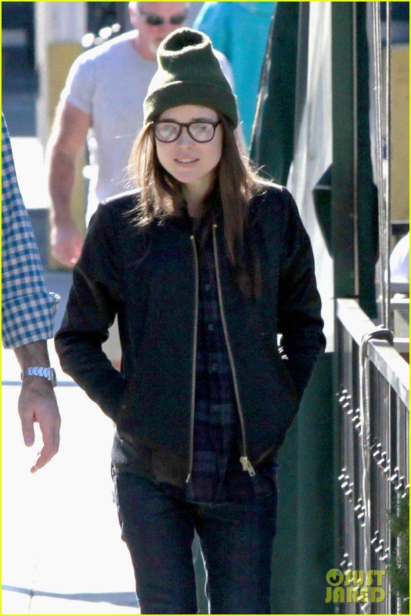 ellen page hugos lunch with comedian rob delaney 023033655