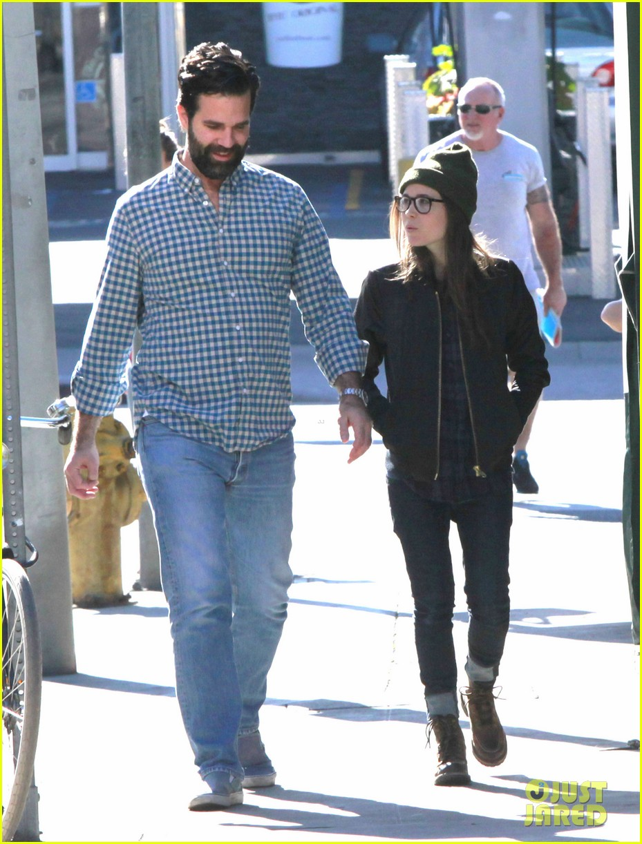 ellen page hugos lunch with comedian rob delaney 043033657