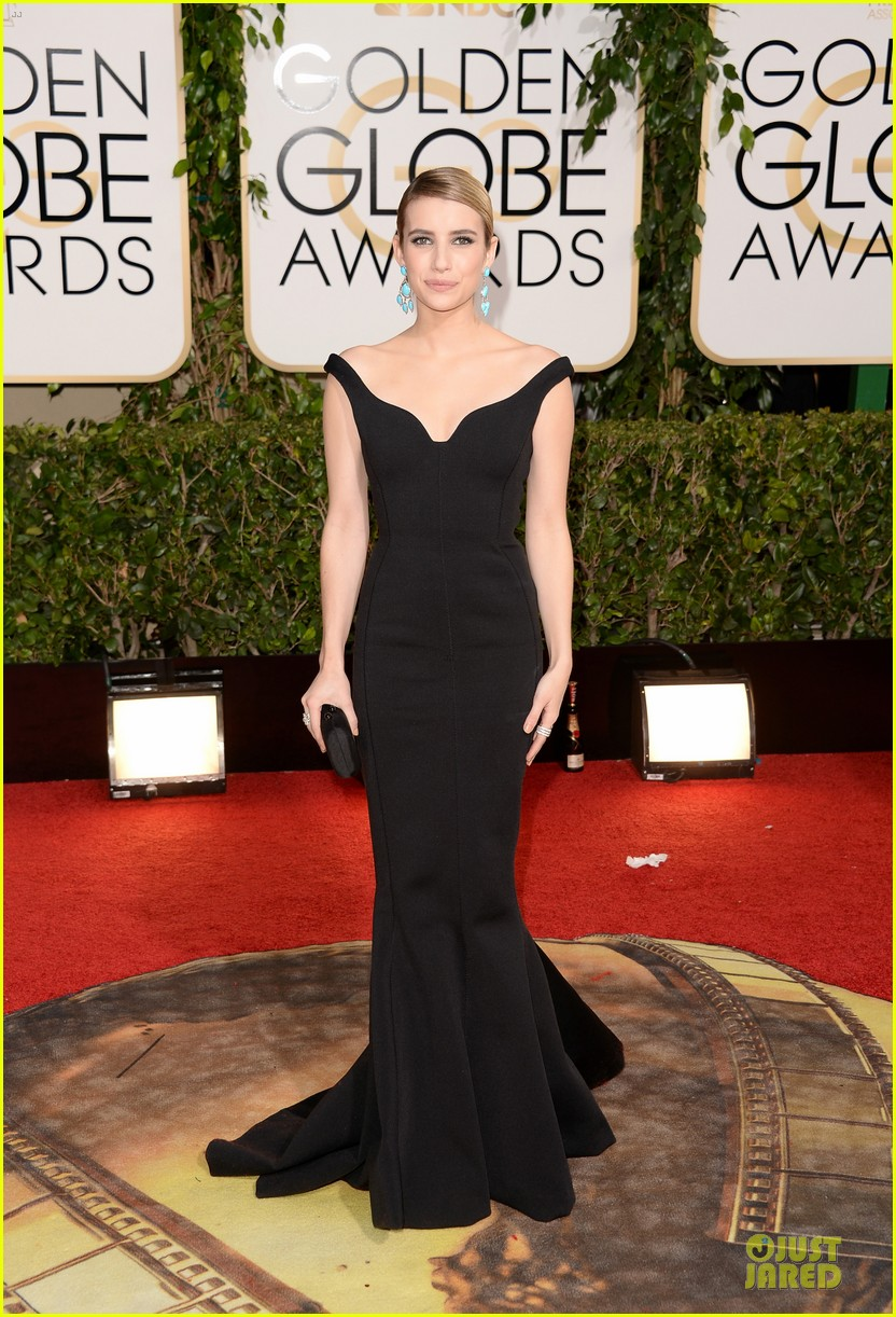 emma roberts golden globes 2014 red carpet 01