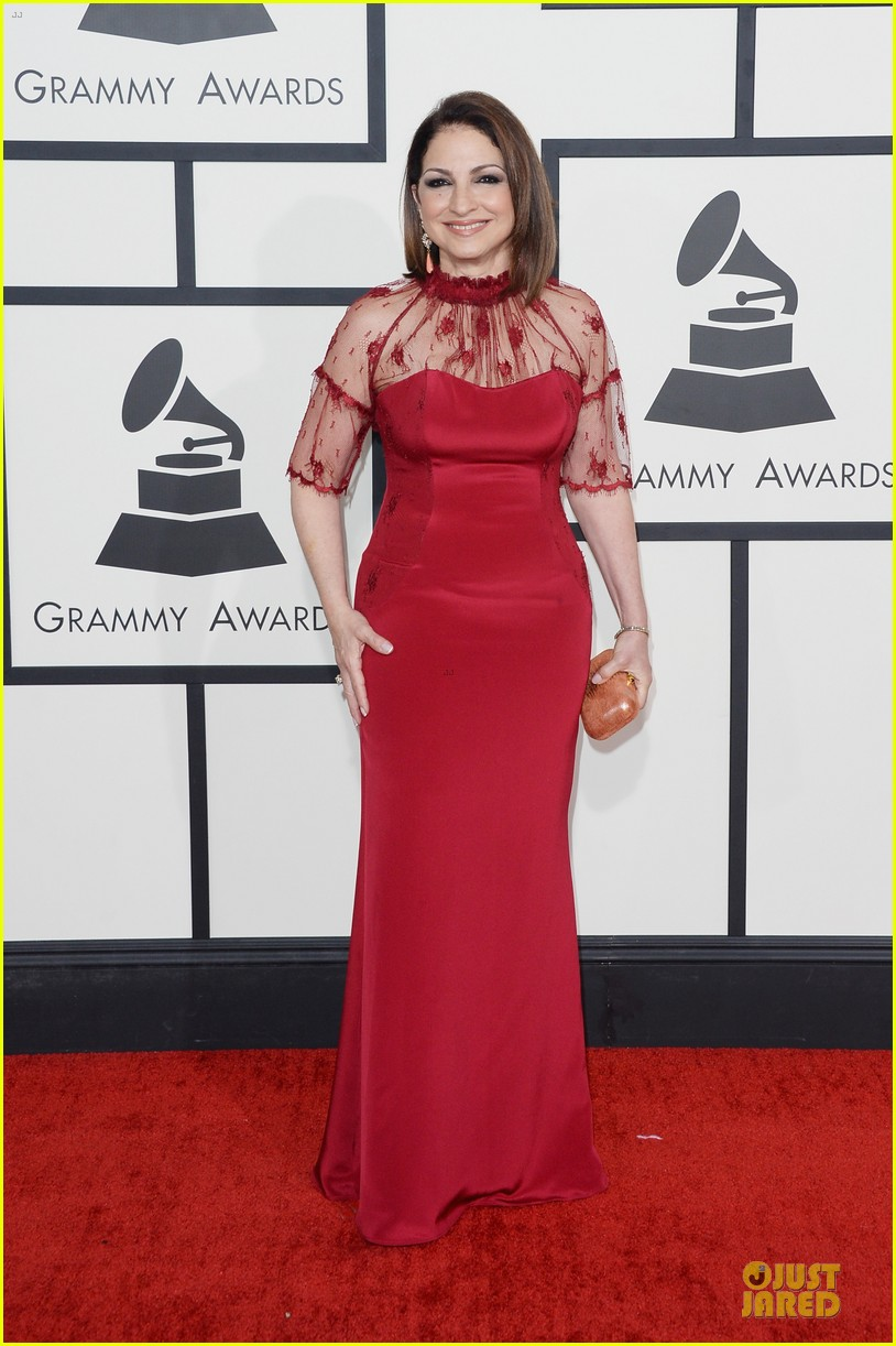 gloria estefan stevie nicks grammys 2014 red carpet 01
