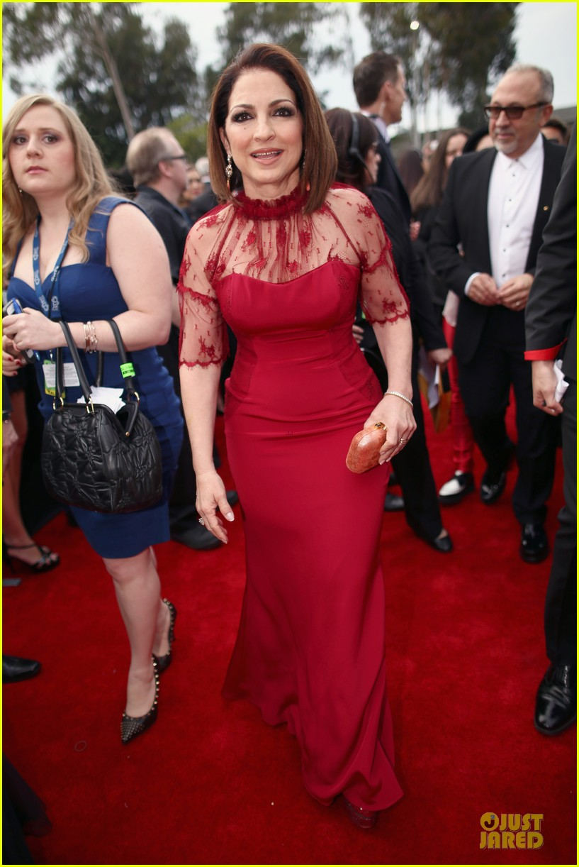 gloria estefan stevie nicks grammys 2014 red carpet 103041631