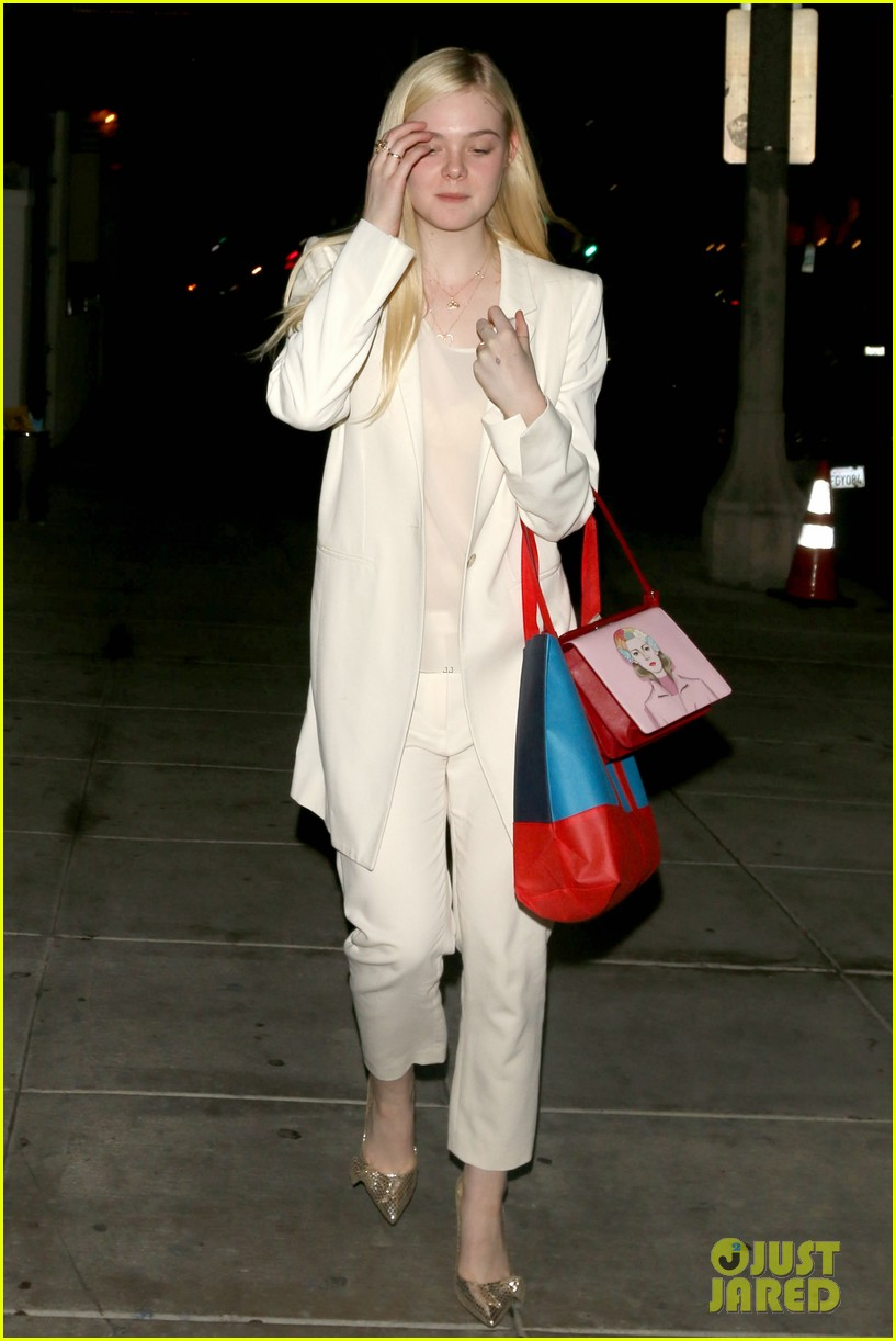 elle fanning matsuhisa dinner date with male friend 163042220