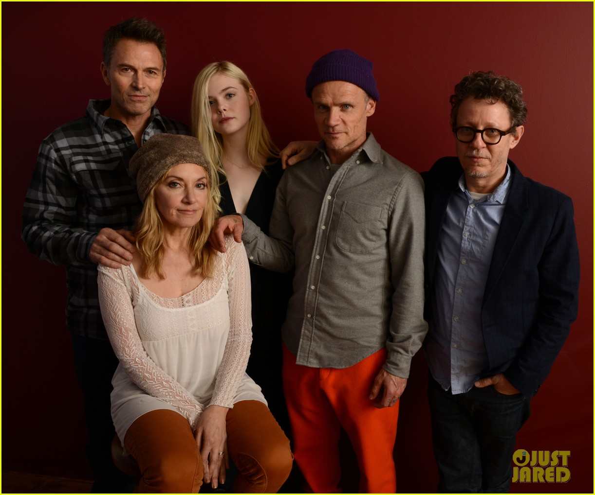 elle fanning aaron paul meet up at varietys sundance studio 18