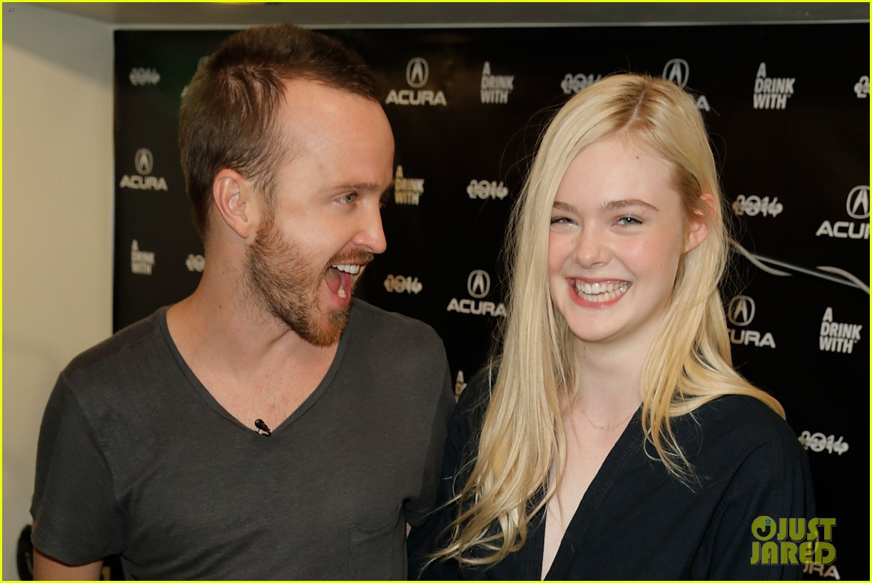 elle fanning aaron paul meet up at varietys sundance studio 233036636