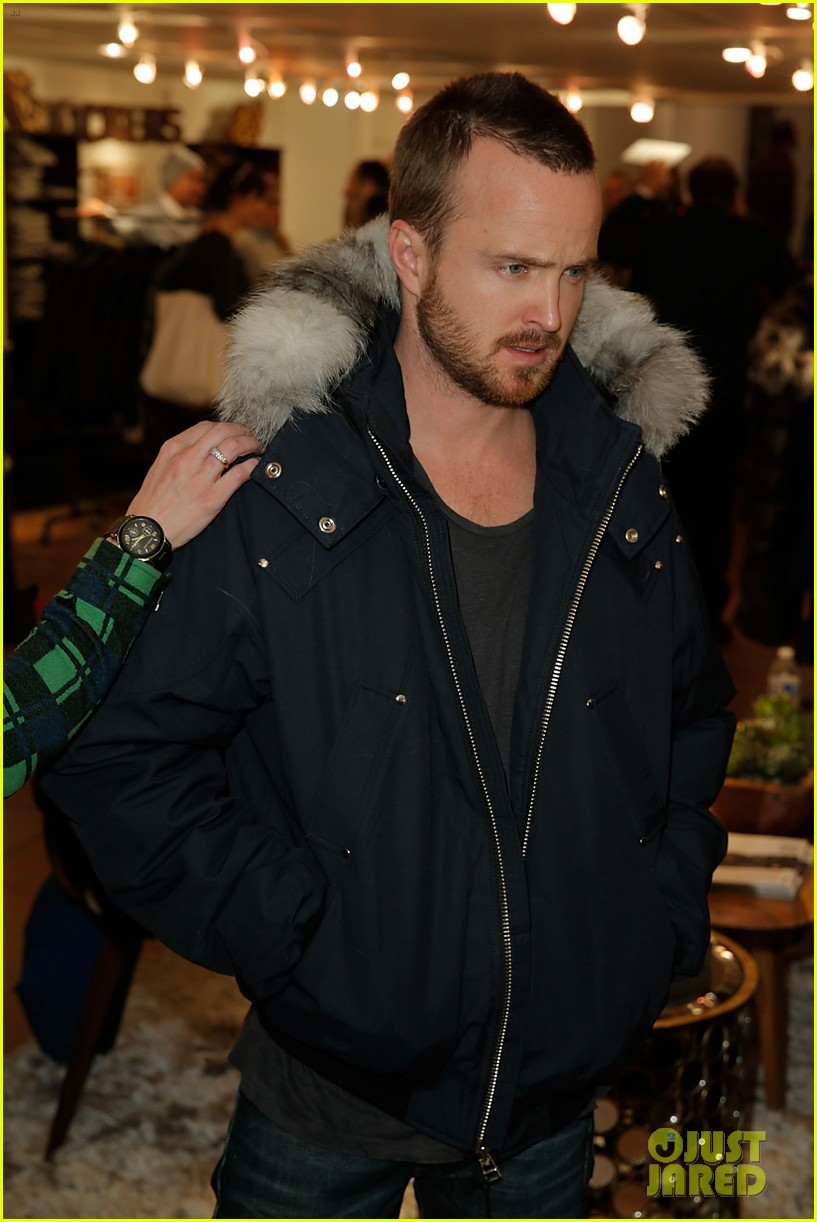 elle fanning aaron paul meet up at varietys sundance studio 303036643