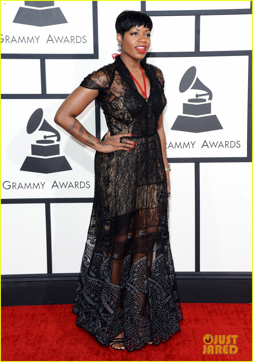 fantasia barrino grammys 2014 red carpet 033040878
