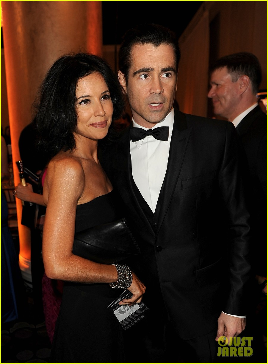 colin farrell golden globes 2014 with sister claudine 013029682