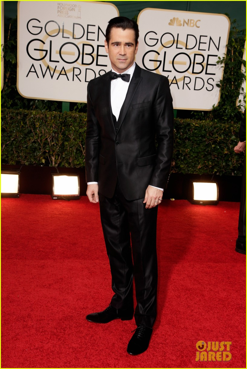colin farrell golden globes 2014 with sister claudine 033029684